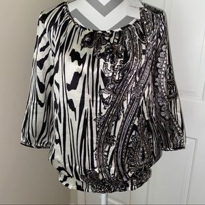 NWT! Paisley Luxe Top 3/4 Sleeves by Chico's
